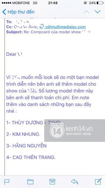 Phản hồi của phía Vietnam International Fashion Week có trở nên vô nghĩa khi để lộ email cấm diễn này? - Ảnh 6.