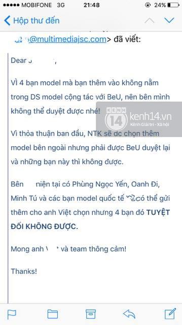 Phản hồi của phía Vietnam International Fashion Week có trở nên vô nghĩa khi để lộ email cấm diễn này? - Ảnh 7.