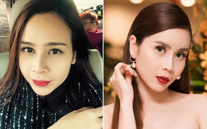 Cùng chạy theo xu hướng mặt phù cằm nhọn, gái Việt và gái Hàn cứ giống nhau y xì đúc - Ảnh 7.