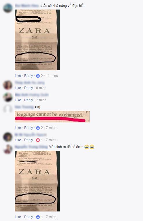 """Viết status kiện Zara Hà Nội lừa đảo vì không được đổi legging giá 999.000, vị khách nữ lại bị cư dân mạng """"ném đá"""" ngược - Ảnh 7."""