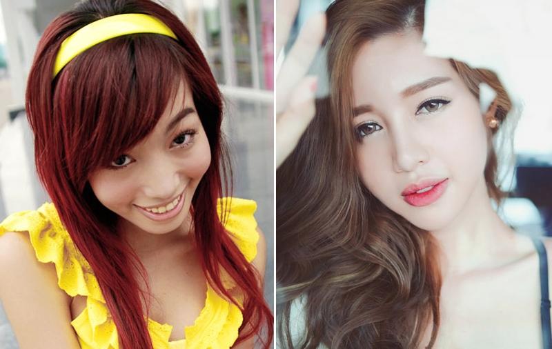 Cùng chạy theo xu hướng mặt phù cằm nhọn, gái Việt và gái Hàn cứ giống nhau y xì đúc - Ảnh 11.