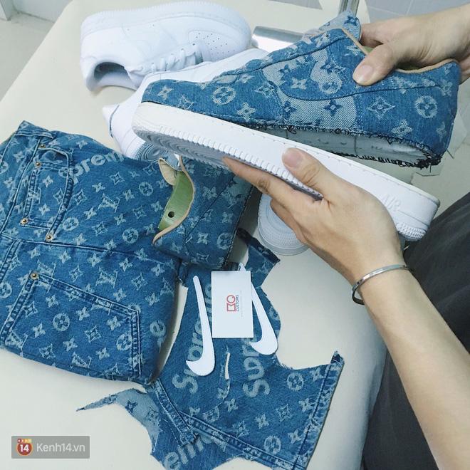 9x Việt độ giày từ đồ Louis Vuitton x Supreme hàng chục triệu đồng đang khiến giới chơi sneakers phát sốt - Ảnh 14.