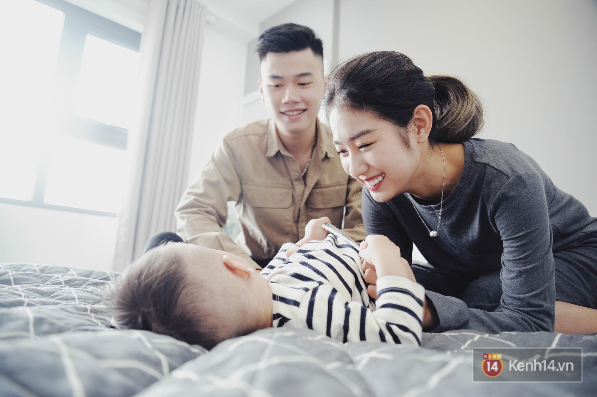 Gia đình trong mơ Trang Lou - Tùng Sơn: Có con là điều khó khăn nhất nhưng cũng hạnh phúc nhất! - Ảnh 12.