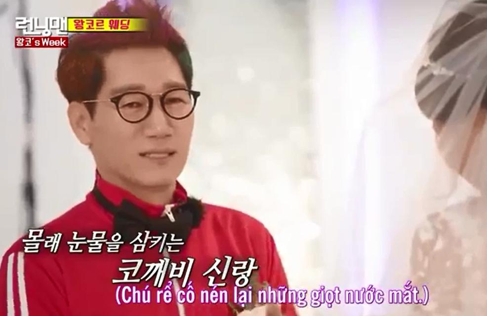 Anh Mũi To nhuộm tóc xanh đỏ, bật khóc trong đám cưới tại Running Man - Ảnh 5.