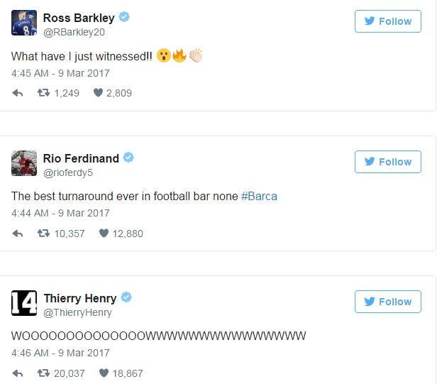 Thế giới bóng đá phát điên vì chiến thắng không tưởng của Barca - Ảnh 3.