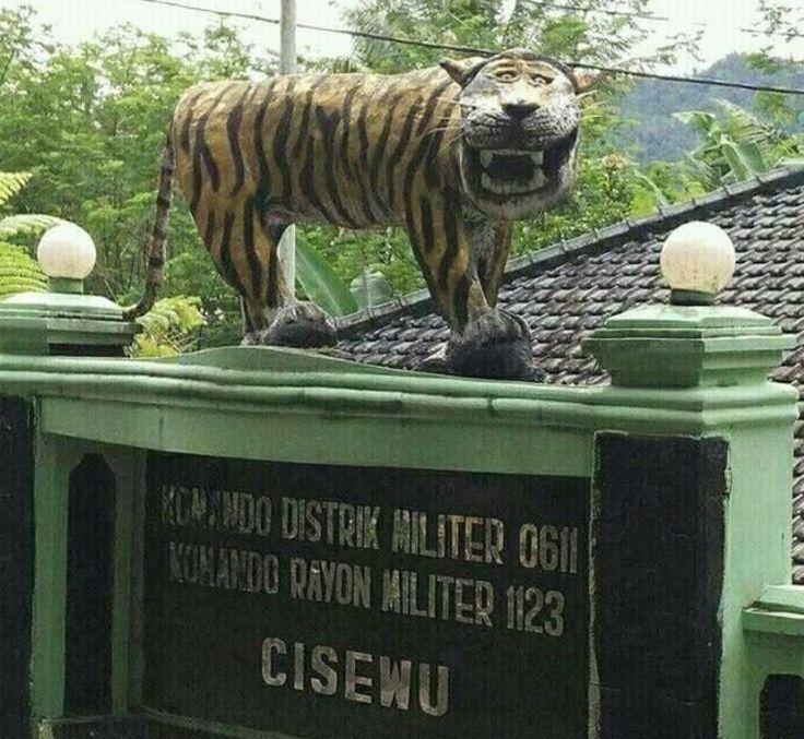 Phát hiện thấy bức tượng hổ mặt ngu buồn cười nhất thế giới - Ảnh 1.