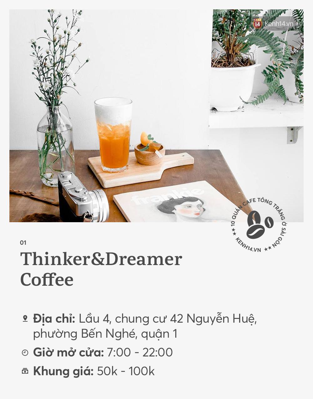 10 quán cà phê tông trắng ở Sài Gòn, cứ đến là có ảnh đẹp! - Ảnh 1.