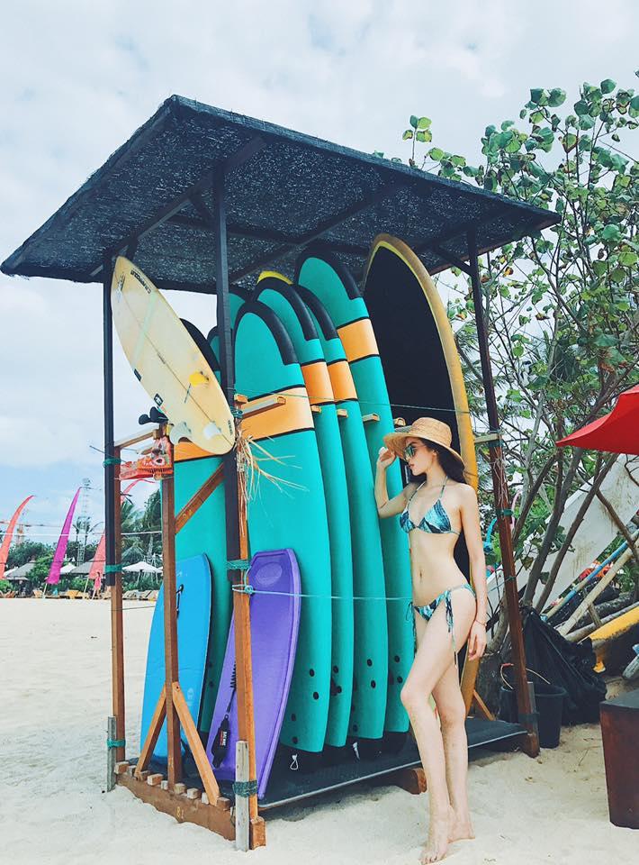 Kỳ Duyên mặc bikini khoe dáng chuẩn trong chuyến du lịch Bali - Ảnh 1.
