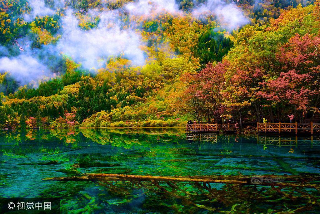 Thiên đường hạ giới Cửu Trại Câu đẹp như cõi mộng trước trận động đất kinh hoàng - Ảnh 1.