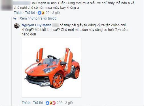Tuấn Hưng mua siêu xe gần 16 tỷ đồng, Duy Mạnh lên tiếng mỉa mai? - Ảnh 2.