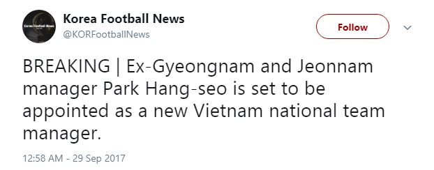 VFF xác nhận HLV Hàn Quốc sẽ dẫn dắt đội tuyển Việt Nam - Ảnh 1.