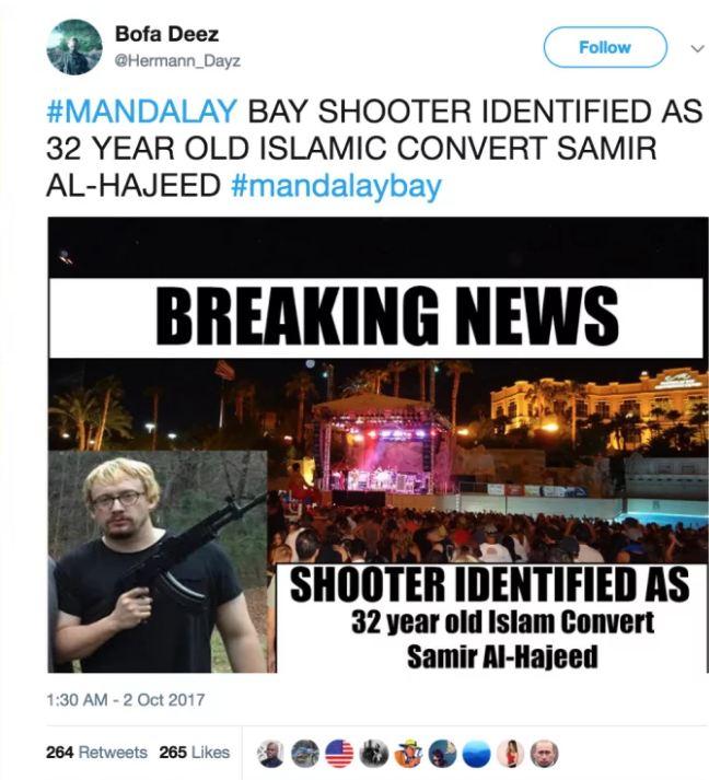 Hàng loạt tài khoản mạng xã hội mượn vụ xả súng Las Vegas để trục lợi, câu like làm nhiễu loạn thông tin - Ảnh 1.
