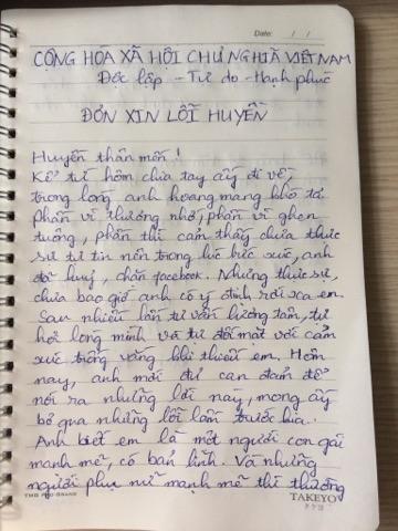 Chàng trai viết đơn xin lỗi vì lỡ... block Facebook bạn gái - Ảnh 1.