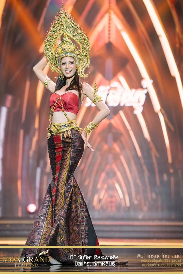 Trang phục truyền thống bó sát khiến thí sinh Miss Grand Thái Lan 2 lần bị ngã trên sân khấu - Ảnh 2.
