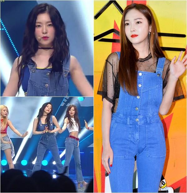 Không hẹn mà gặp, cả Irene lẫn Jessica đều mặc chung một kiểu quần yếm - Ảnh 1.