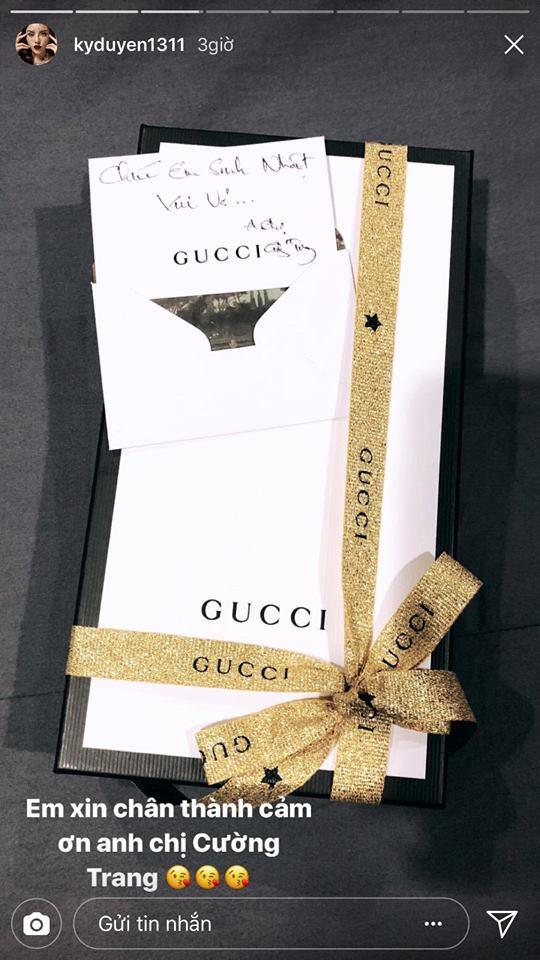 """Ký tên """"Cường Trang"""" trên quà tặng sinh nhật Kỳ Duyên, Cường Đô La và bạn gái chính thức là một đôi?"""