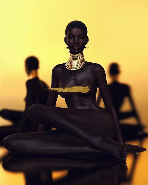 Xôn xao tấm hình nữ người mẫu da đen xinh đẹp nhất mạng xã hội: Người thật hay là mô hình? - Ảnh 1.
