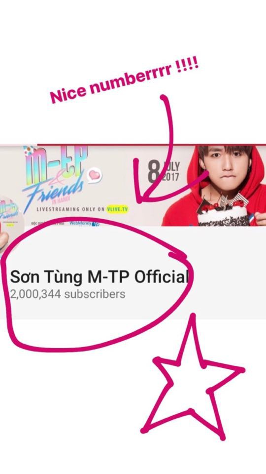 Sơn Tùng M-TP là ca sĩ Việt Nam đầu tiên có kênh Youtube cán mốc 2 triệu lượt follow - Ảnh 1.