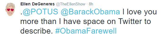 Loạt sao thế giới tiếc nuối khi ông Obama chia tay Nhà Trắng - Ảnh 10.