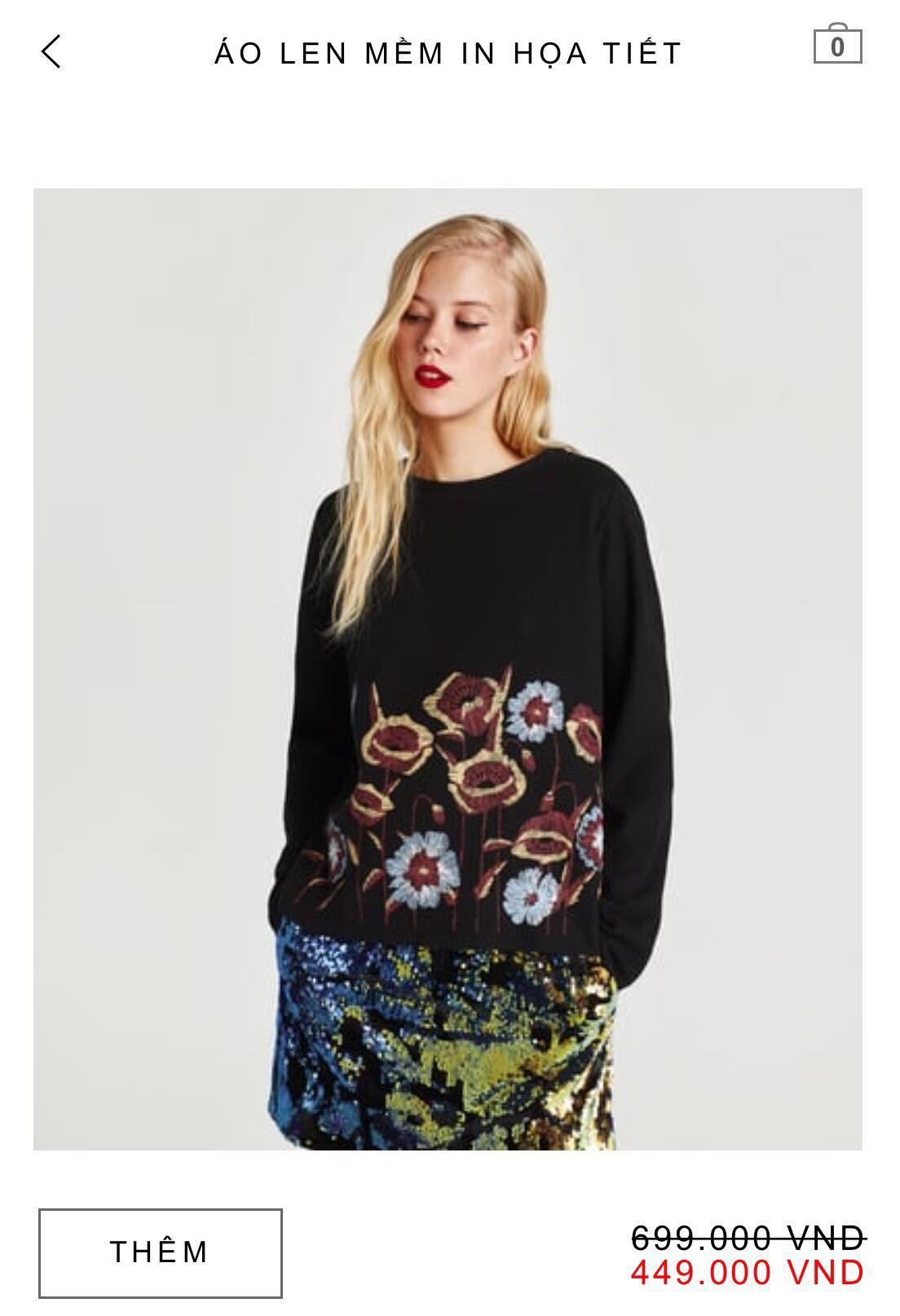 14 mẫu áo len, áo nỉ dưới 500.000 VNĐ xinh xắn, trendy đáng sắm nhất đợt sale này của Zara - Ảnh 6.