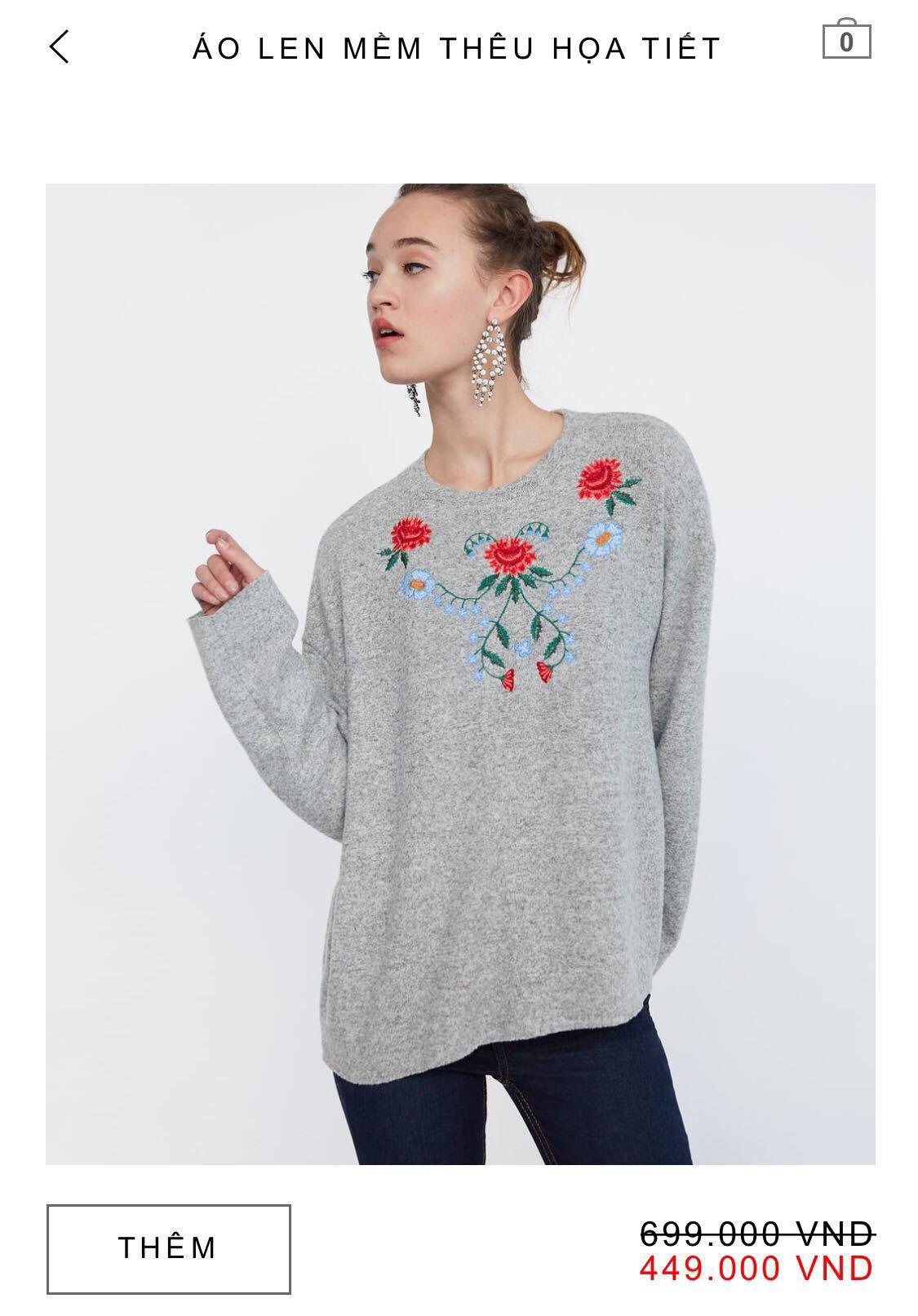 14 mẫu áo len, áo nỉ dưới 500.000 VNĐ xinh xắn, trendy đáng sắm nhất đợt sale này của Zara - Ảnh 3.