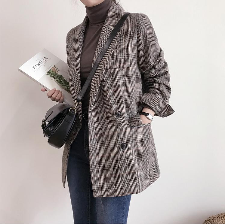 Blazer kẻ caro: Dự là sẽ hot hơn cả cardigan, denim jacket vì fashionista nào cũng đang sở hữu 1 cái - Ảnh 14.