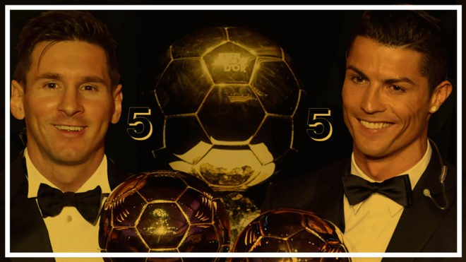 Ảnh chế: Ronaldo một tay bế Quả bóng vàng, một tay ẵm... Messi - Ảnh 2.