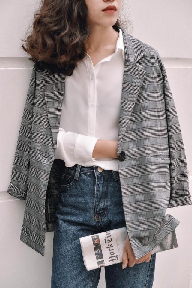 Blazer kẻ caro: Dự là sẽ hot hơn cả cardigan, denim jacket vì fashionista nào cũng đang sở hữu 1 cái - Ảnh 17.