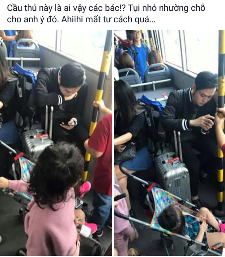 Mặc trẻ em đứng ngay trước mặt, Quang Vinh gây tranh cãi khi vẫn thản nhiên ngồi ghế - Ảnh 1.