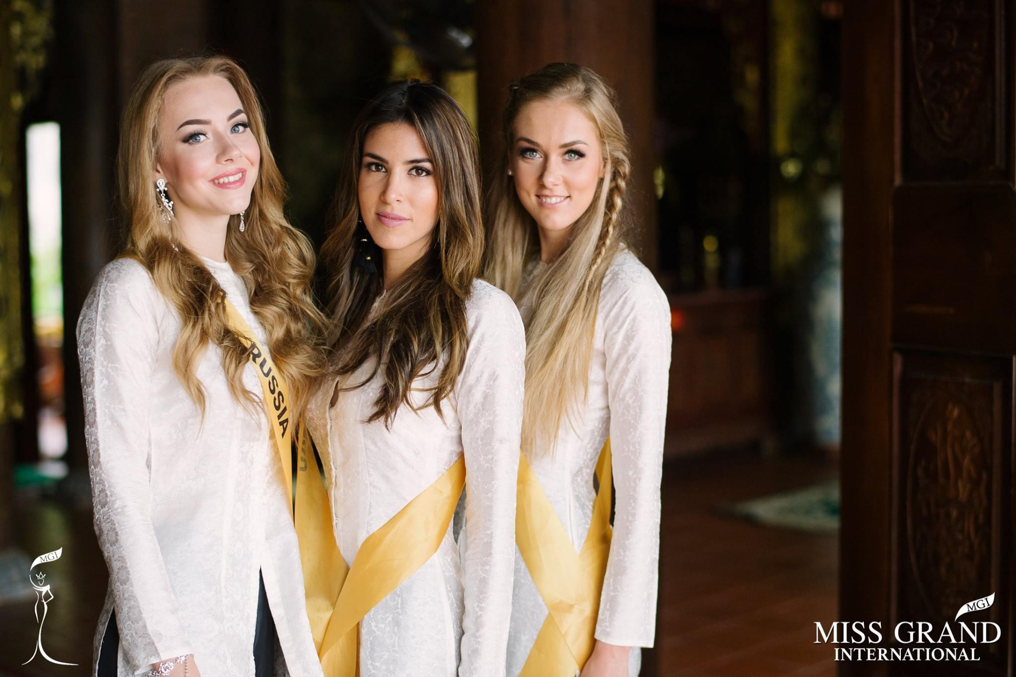Thí sinh Miss Grand International 2017 duyên dáng trong tà áo bà ba vãn cảnh chùa - Ảnh 6.