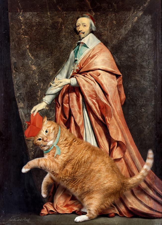 Chùm ảnh chế mèo béo hóa thân thành nàng thơ trong các bức họa nổi tiếng - Ảnh 31.