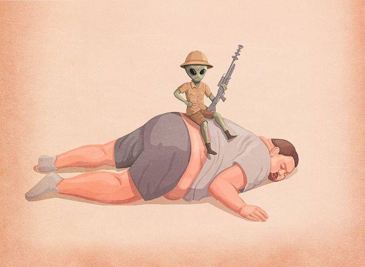 Những bức tranh biếm họa về con người khiến chúng ta phải giật mình suy ngẫm - Ảnh 27.