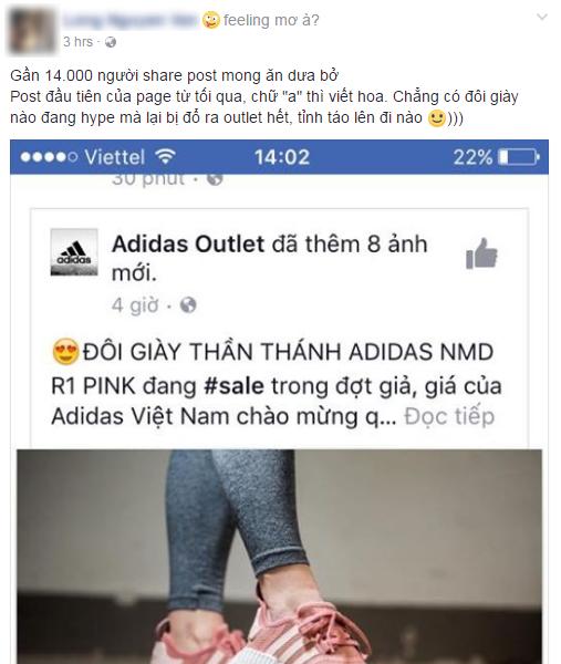 Hết Zara Outlet lừa đảo, lại thêm page giả mạo adidas tung tin mua NMD hồng đang hot với giá 48.000 đồng - Ảnh 2.