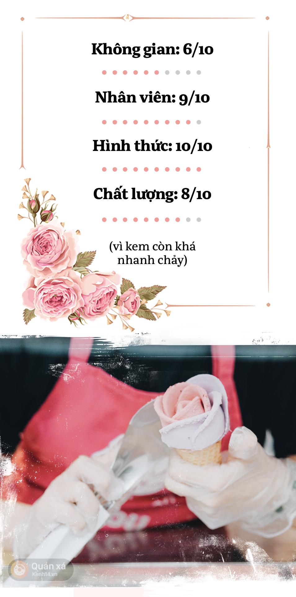 Sài Gòn: Đi thử ngay món kem hoa hồng đang khiến cư dân mạng thế giới sốt xình xịch - Ảnh 16.