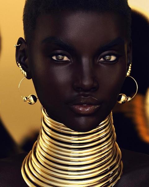 Xôn xao tấm hình nữ người mẫu da đen xinh đẹp nhất mạng xã hội: Người thật hay là mô hình? - Ảnh 2.