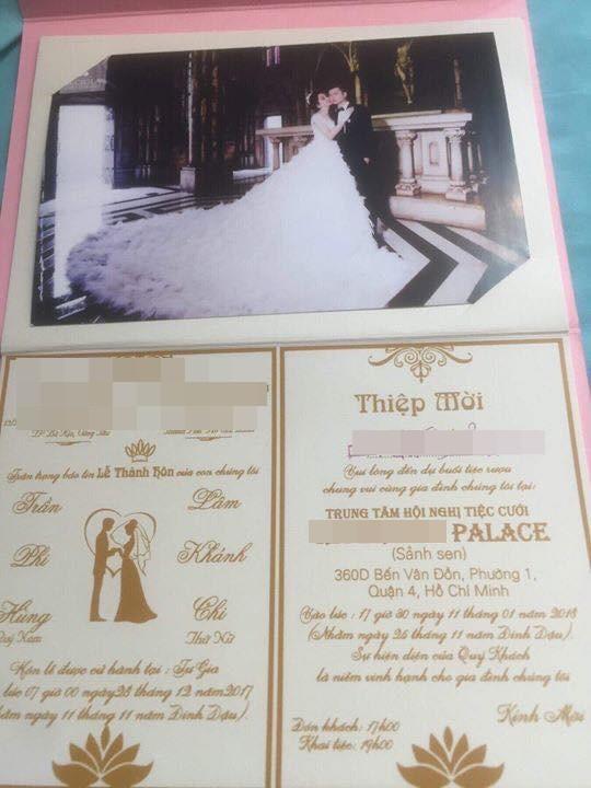 Thiệp mời hé lộ thời gian và địa điểm tổ chức đám cưới của Lâm Khánh Chi và chồng trẻ kém 8 tuổi - Ảnh 2.