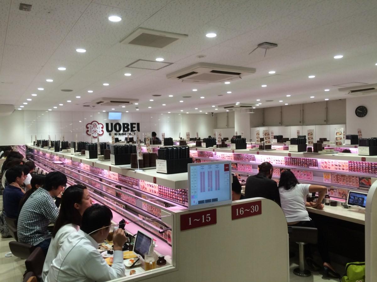 Thú vị với cách thưởng thức sushi tàu hỏa siêu nhanh ở Nhật Bản - Ảnh 2.