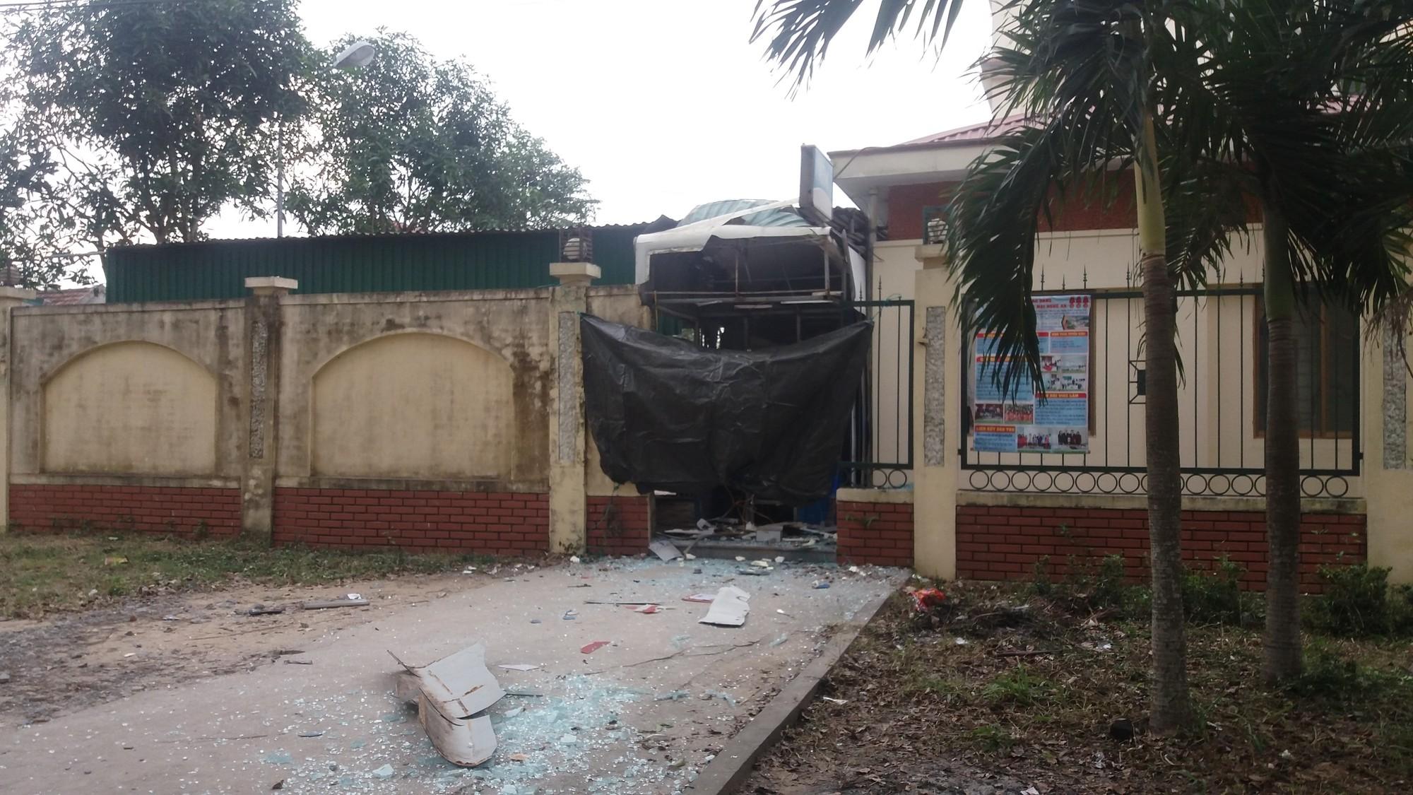 ATM phát nổ ở Nghệ An gây thiệt hại hơn nửa tỷ đồng