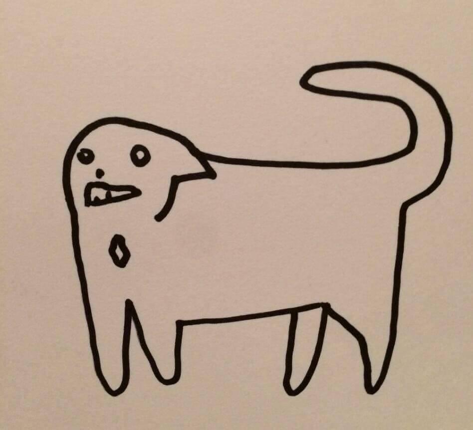 Những bức tranh vẽ mèo xấu không thể tả nhưng khi so với bản gốc,
