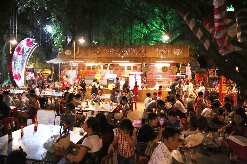 Hàng ngàn người dân đổ về Công viên Đầm Sen xem pháo hoa mừng Tết Độc Lập - Ảnh 4.