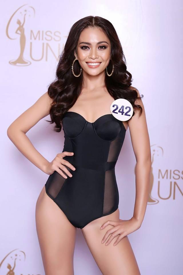 Cận cảnh hình ảnh bikini của Hoàng Thùy, Mâu Thủy, Mai Ngô... tại Hoa hậu Hoàn vũ, ai nuột nhất? - Ảnh 2.
