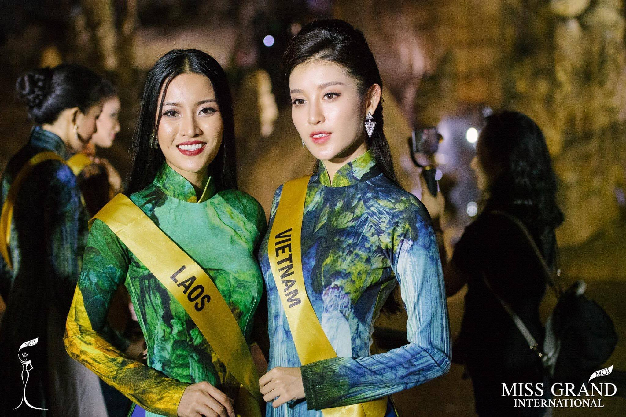 Huyền My xinh đẹp đọ sắc cùng các thí sinh Miss Grand International tại động Thiên Đường - Ảnh 8.