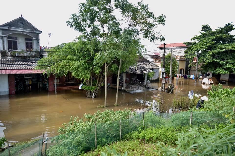 Chùm ảnh: Ninh Bình nhiều nơi nước ngập quá 2m, đường vào khu du lịch Bái Đính bị cô lập - Ảnh 16.