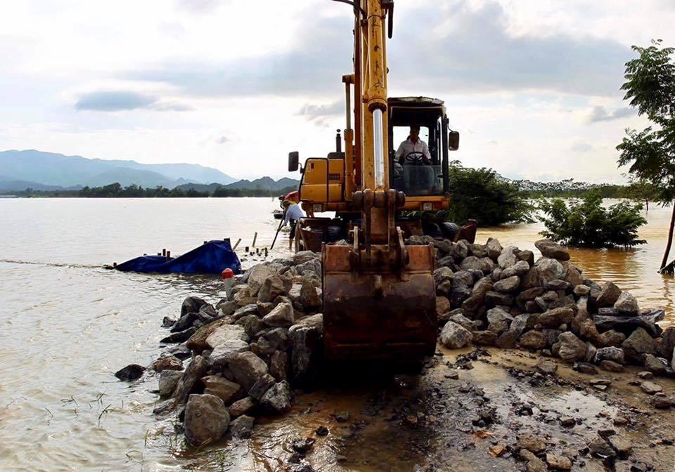 Hà Nội bác tin vỡ đê sông Bùi, một số vị trí chỉ do sạt lở, sụt lún nên bị tràn nước - Ảnh 7.