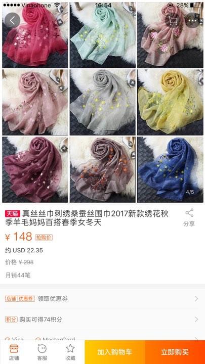 Khăn lụa Khải Silk bán hàng triệu đồng, mẫu tương tự bên Trung Quốc chỉ bằng 1/10 mức giá - Ảnh 4.