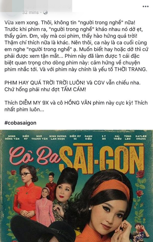 Tăng Thanh Hà, Lương Mạnh Hải và nhiều sao Việt đồng loạt khen ngợi Cô Ba Sài Gòn hết lời - Ảnh 20.