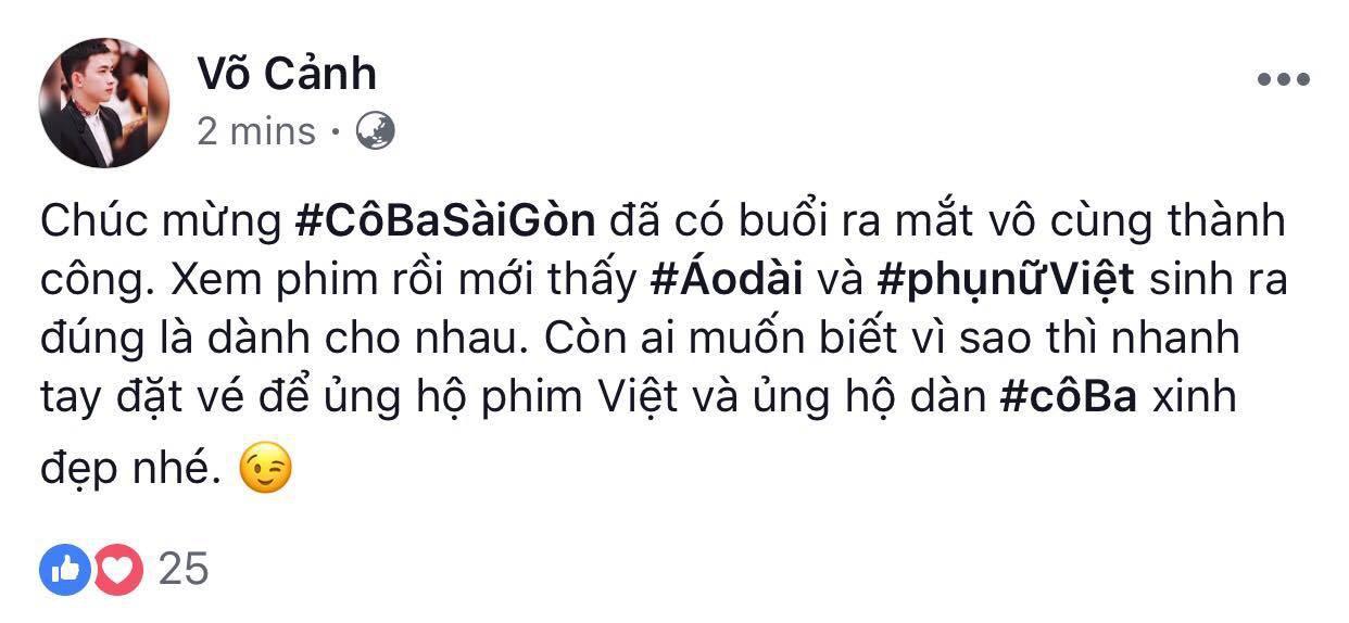 Tăng Thanh Hà, Lương Mạnh Hải và nhiều sao Việt đồng loạt khen ngợi Cô Ba Sài Gòn hết lời - Ảnh 14.