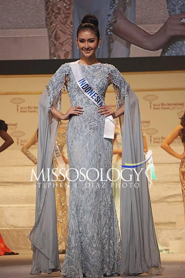 Nhan sắc xinh đẹp của đại diện Indonesia, cô gái đánh bại hơn 70 đối thủ vừa đăng quang Miss International 2017 - Ảnh 3.