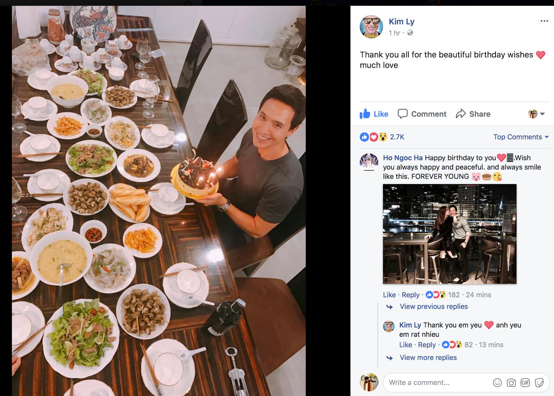 HOT: Hà Hồ công khai hôn má Kim Lý trong ngày sinh nhật, chính thức xác nhận hẹn hò! - Ảnh 1.