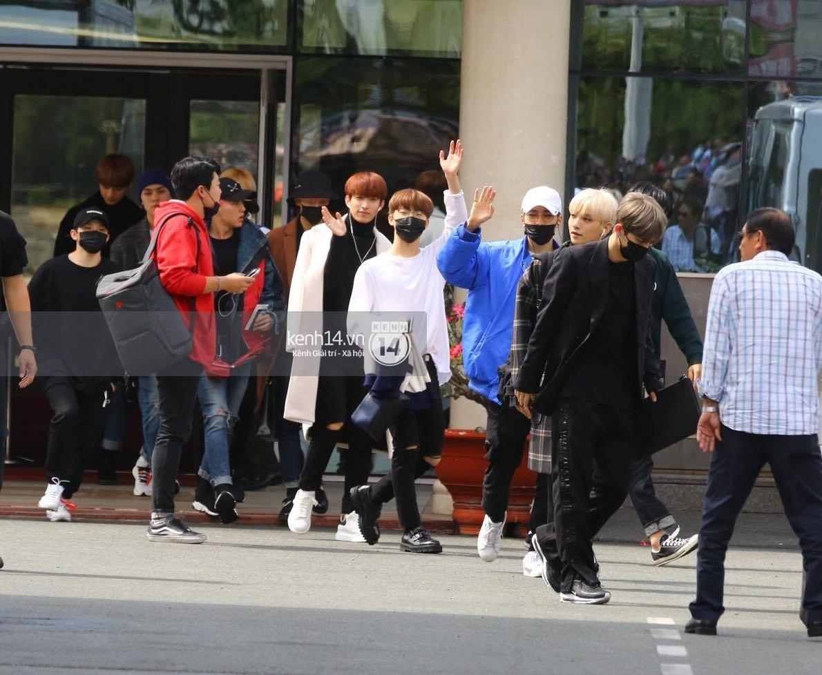 Hoàng tử lai Samuel điển trai, cùng Seventeen ngoái lại chào fan Việt bằng được tại sân bay Tân Sơn Nhất - Ảnh 8.